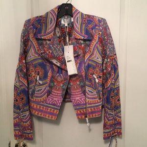 Camilla Kenyan kaleidoscope printed leather jacket